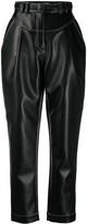 Philosophy di Lorenzo Serafini high-waisted faux leather trousers