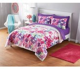 Fashionable, Lively and Colorful Your Zone Adelaine Watercolor Floral Comforter Set, Pink/Purple, Full/Queen