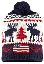 Ralph Lauren Navy Reindeer Bobble Hat
