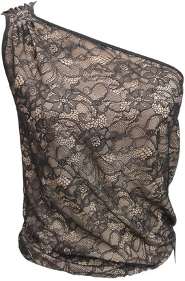 BCBGMAXAZRIA Black Lace Top for Women