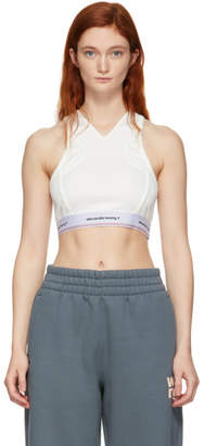 Alexander Wang Off-White Wash and Go Logo Bra