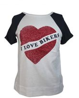 "Zoe Karssen ""i Love Bikers"" Peacot T-shirt"