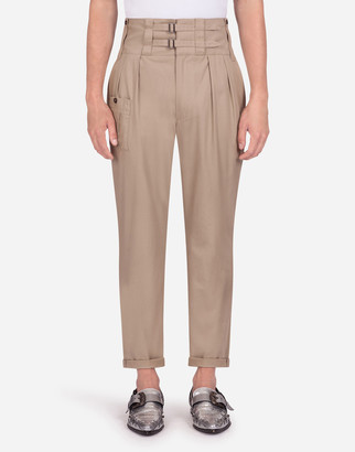 Dolce & Gabbana High-Waisted Cotton Cargo Pants