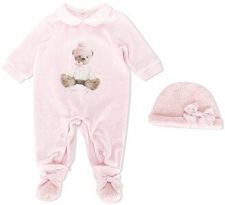 Lapin House Teddy Bear-Print Pajamas
