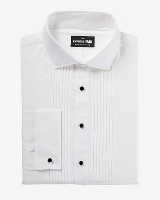 Express Slim Pleated Shank Button Tuxedo 1Mx Dress Shirt