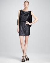 Erin Fetherston Sequined Drape-Sleeve Dress