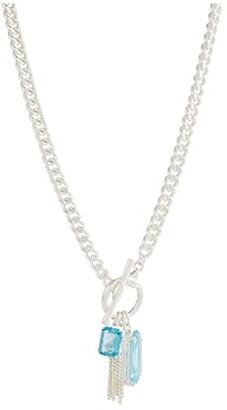 Lauren Ralph Lauren Stone Pendant Necklace (Aqua) Necklace
