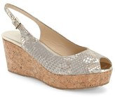 Jimmy Choo Women's 'Praise' Cork Platform Wedge Sandal