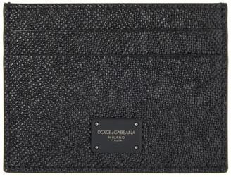 Dolce & Gabbana Black Dauphine Logo Card Holder