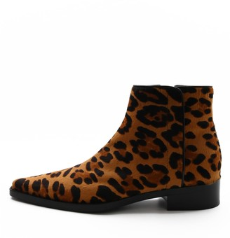 Dolce & Gabbana Animal Print Ankle Boots