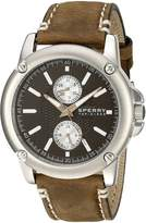 Sperry 103525 Men's Analog Brown Leather Band Black Dial Watch