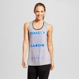 Champion Women's Muscle Graphic Tank Tops - Heather Grey