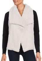 Design Lab Lord & Taylor Faux Fur-Trimmed Flyaway Vest