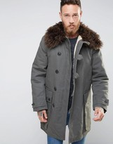 Nudie Jeans Connor Parka with Faux Fur Collar