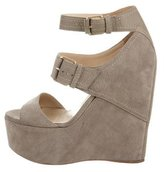 Jimmy Choo Nubuck Platform Wedges