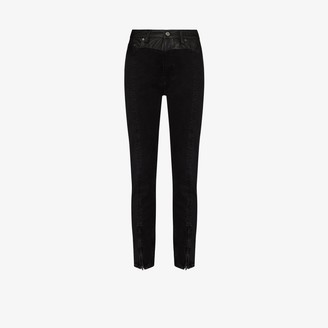 Ksubi Leather Trim Skinny Jeans