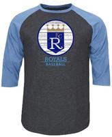 Kansas City Royals Men's 3/4 Sleeve Raglan T-Shirt