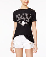 Freeze 24-7 Juniors' Cotton Star Wars Vader Ripped Graphic T-Shirt