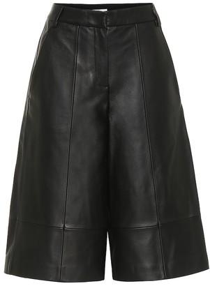 Tibi Leather culottes