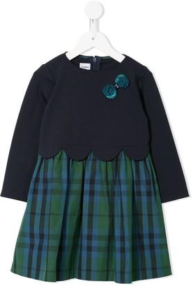 Familiar Scalloped Bow Detail Dress