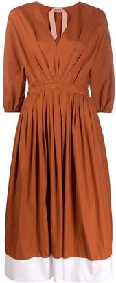 No.21 Contrast-Hem Dress