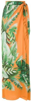 AMIR SLAMA Printed Wrap Maxi Skirt