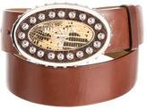 Prada Leather Logo-Embellished Belt