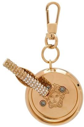 Versace crystal-embellished Medusa-motif keyring