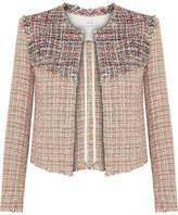 IRO Walefa Frayed Cotton-blend Tweed Jacket