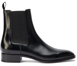 Christian Louboutin Samson Leather Chelsea Boots - Black