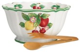Villeroy & Boch Serveware, French Garden Figural Salad Bowl with Tongs