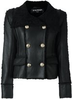 Balmain double breasted shearling coat - women - Lamb Skin/Lamb Fur - 36