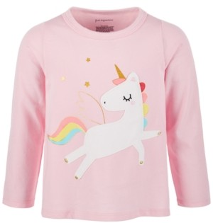 First Impressions Baby Girls Rainbow Unicorn Long-Sleeve Cotton T-Shirt, Created for Macy's