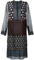 Lanvin oversize patchwork pattern dress - women - Silk/Cotton - 34