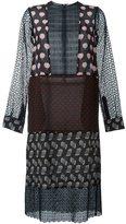 Lanvin oversize patchwork pattern dress - women - Silk/Cotton - 36