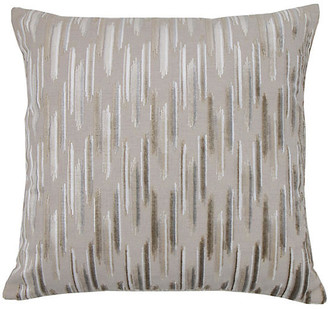 The Piper Collection Mira 22x22 Pillow - Sandstone/Silver Velvet