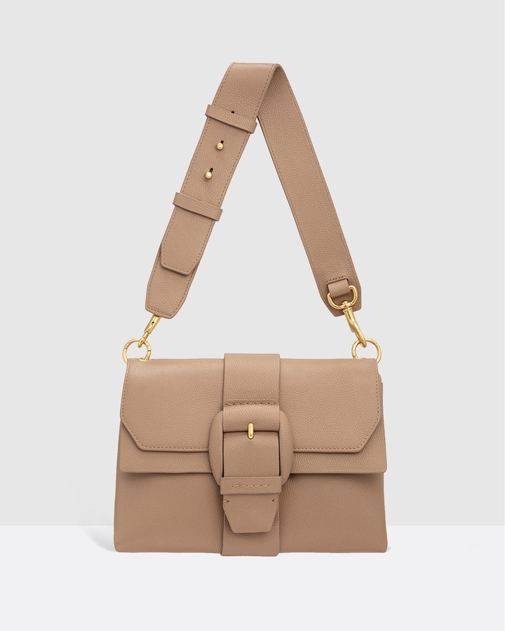 Oroton Women's Brown Leather bags - Frida Soft Medium Satchel - Size One Size at The Iconic