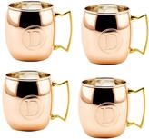 Old Dutch Monogram D 16 oz. Solid Copper Moscow Mule Mugs (Set of 4)