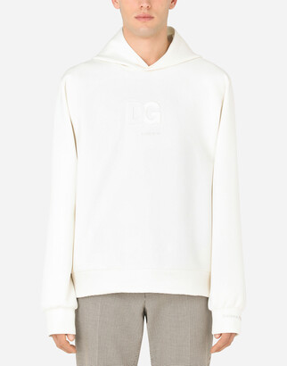 Dolce & Gabbana Scuba Fabric Hoodie With 3d Logo