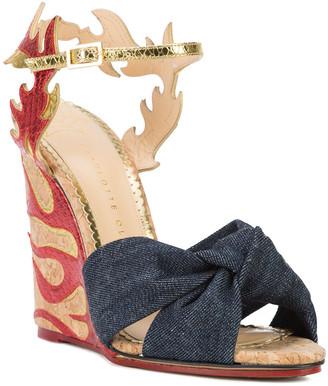 Charlotte Olympia Flame Wedge Sandals