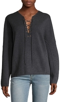 Vince Wool Lace Up Sweater