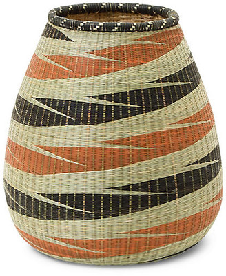 "All Across Africa 11"" Panthera Decorative Vase - Orange/Black"