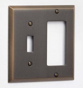 Rejuvenation Lewis Toggle GFCI Switchplate