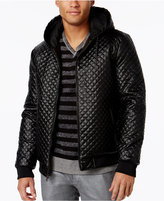 INC International Concepts Men's Quilted Faux-Leather Bomber, Only at Macy's