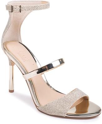 Badgley Mischka Rihanna Glitter Metallic Stiletto Sandal