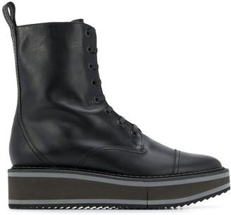 Clergerie Platform Lace Up Boots