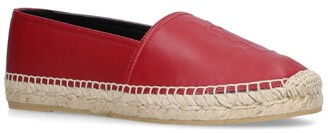 Saint Laurent Leather Logo Espadrilles