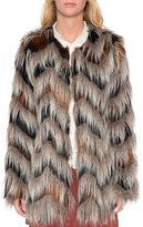 Willow & Clay Chevron Faux Fur Jacket