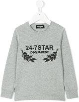DSQUARED2 24-7 Star sweatshirt - kids - Cotton - 4 yrs