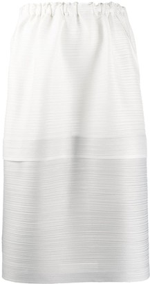 Pleats Please Issey Miyake Plisse Flared Skirt